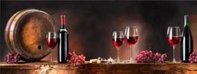 Styler Tablou pe sticlă - Wine Glasses 80x30 cm