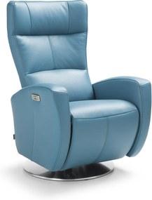 Fotoliu recliner electric Inari albastru 72x80x112 cm