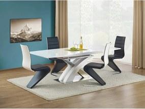 SANDOR masă extensibilă albă lăcuită