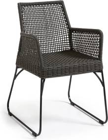 Set 2 scaune La Forma Novak, gri închis