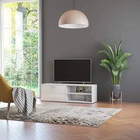 801158 vidaXL Comodă TV, alb extralucios, 120 x 34 x 37 cm, PAL