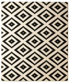 Covor Hanse Home Hamla Diamond, 80 x 200 cm, negru