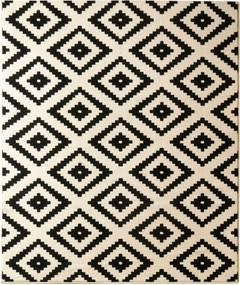 Covor Hanse Home Hamla Diamond Black, 160 x 230 cm, negru