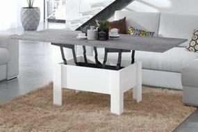 OSLO măsuță de cafea, beton (gri) / alb