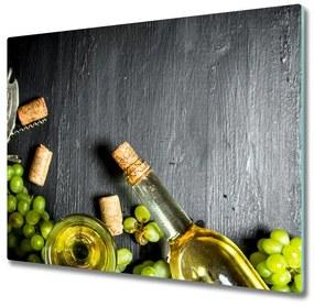 Tocator din sticla Vin alb și fructe