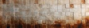 3D tablou pe pânză - Silver Cubes, 56x100 cm