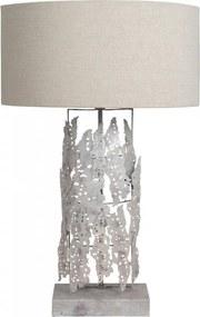 Lampa decorativa din fier/aluminiu/bumbac Magnifique Iceland argintie, un bec
