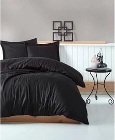 Lenjerie de pat cu husă de saltea Stripe, 200 x 220 cm, negru