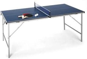 Klarfit King Pong, masă de ping-pong, pliantă, albastru