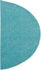 Covoras Intrare Soft & Clean, Semirotunda, Turcoaz, 50x75