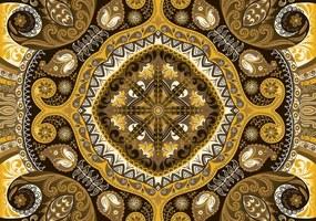 Fototapet - Mozaic galben (152,5x104 cm), în 8 de alte dimensiuni noi