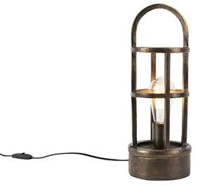 Lampă de masă Art Deco bronz 41 cm - Kevie