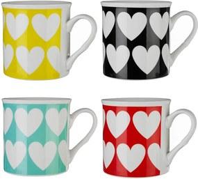 Set 4 căni colorate Premier Housewares Herts, 342 ml