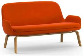 Canapea din lana portocalie cu picioare lemn stejar 63016 Era Normann Copenhagen