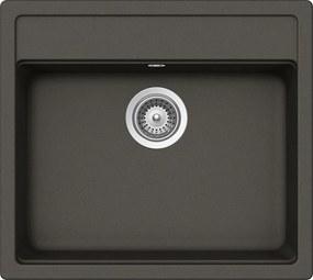 Chiuveta Granit Schock Nemo N-100 Asphalt Cristalite 570 x 510 mm