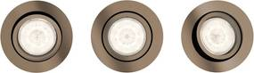 Philips 50203/05/P0 - SET 3x LED Lampă încastrată dimmabilă LED/4,5W/230V