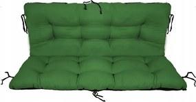 Set perne decorative pentru mobilier paleti, perna sezut 120x70 cm + perna spate 120x40 cm, culoare verde