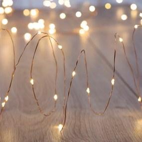 Ghirlanda luminoasă cu LED DecoKing Simple, lungime 10,2 m, argintiu