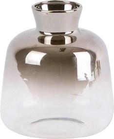 Vază mică din sticlă PT LIVING Silver Fade, înălțime 10 cm