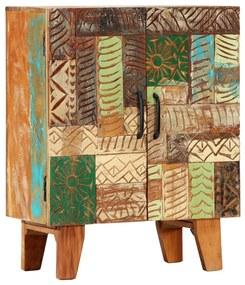 247910 vidaXL Servantă sculptată manual, 60x30x75 cm, lemn masiv reciclat