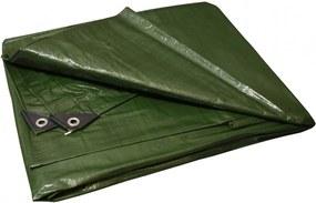 Prelată verde - argintiu 3x4 m 130 g/m2