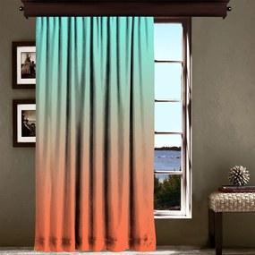 Draperie Curtain Tageho, 140 x 260 cm, portocaliu - turcoaz