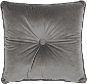 Pernă Tiseco Home Studio Velvet Button, 45 x 45 cm, gri
