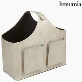 Suport revista cu două buzunare bej by Homania