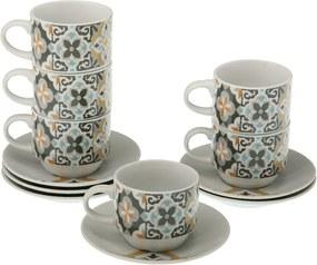 Set 6 căni pentru ceai cu farfurii și suport Versa Tea
