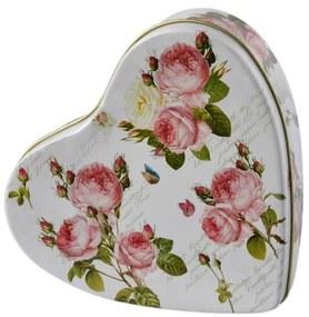 Cutie metal inima Romantic Roses
