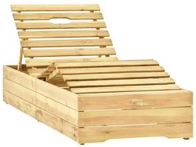 315402 vidaXL Șezlong, lemn de pin verde tratat