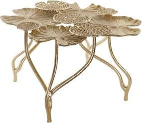 Masuta Lotus din metal auriu 38 cm