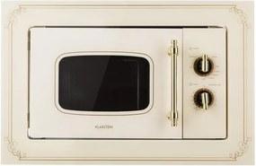 Klarstein Victoria 20, cuptor cu microunde încorporabil, 20 l, 800 W, grill: 1000 W, alb-mat
