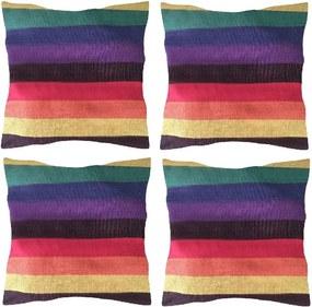 Set 4 Perne din bumbac pentru leagan sau hamac, 45x45cm, multicolor
