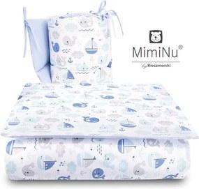 MimiNu - Set 3 piese patut, Blue fish
