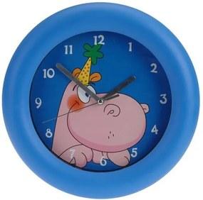 Ceas de perete Hippo, albastru, 26 cm