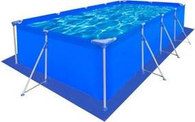 Protecție piscină dreptunghiulară din PE 400 x 207 cm