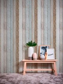 Tapet hartie maro cu aspect lemn Il Decoro 10,05 x 0,53 m