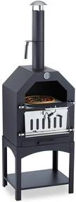 Klarstein KLARSTEIN Pizzaiolo, cuptor de pizza, grătar, afumare, oțel, piatră de pizza