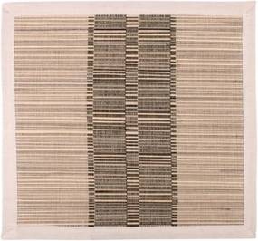 Suport farfurie din paie și bumbac Ladelle Akita, 35 x 35 cm, maro