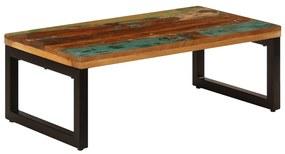 247338 vidaXL Măsuță de cafea, 110x50x35 cm, lemn masiv reciclat și oțel