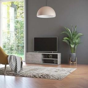 801156 vidaXL Comodă TV, gri beton, 120 x 34 x 37 cm, PAL