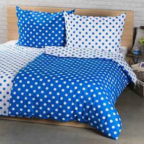 Lenjerie pat 2 pers. 4Home Buline albastru, 220 x 200 cm, 2x 70 x 90 cm, 220 x 200 cm, 2 buc. 70 x 90 cm