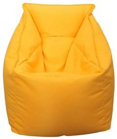 Fotoliu Bean Bag, Interior-Exterior, Tip Fotoliu Galben, 60 X 60 X 34 X 60 cm