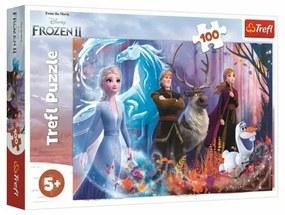 Puzzle Trefl Regatul de gheață 2 - Magia gheții, 100 piese