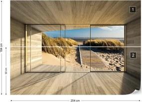 Fototapet GLIX - Beach Path 3D  + adeziv GRATUIT Papírová tapeta  - 254x184 cm