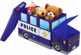 Taburet pentru copii cu spațiu depozitare Jocca Police Car