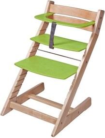 Scaun reglabil pe inaltime pentru copii Unize-verde