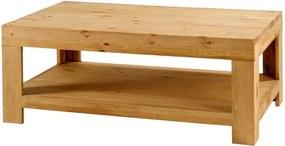 Masuta maro pentru cafea din lemn de pin 70x120 cm Basse Zago