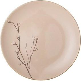 Farfurie din ceramică Bloomingville Rio, ⌀ 22 cm, roz